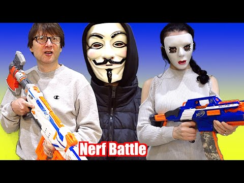 Nerf War: The Hacker Starts Trouble for Super M and Super D!