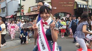 富士吉田ふるさと応援団、左伴彩佳(山梨県)さんによる開会式(ほとん...