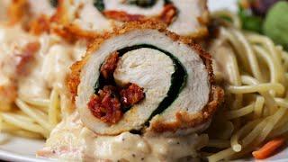 Creamy Tuscan Chicken Rolls • Tasty
