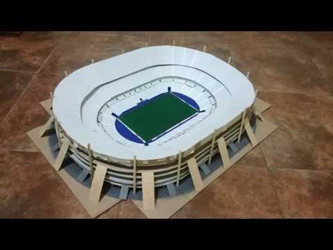 Como hacer un estadio de fútbol   Stade de France 2/3   Timelapse   DIY   Estadios miniatura