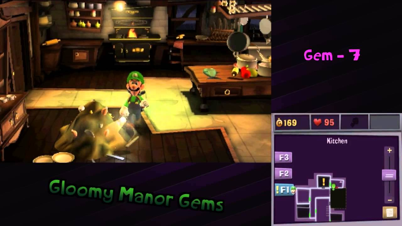 Luigi S Mansion Dark Moon Gloomy Manor Gems