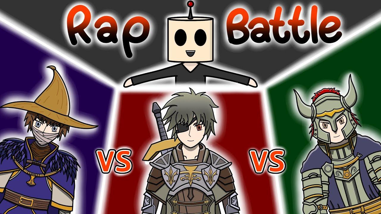 Rap   นักดาบ vs นักเวทย์ vs แทงค์   เมื่อตัวละครเกม Rap Battle