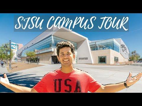 SJSU Campus Tour   San Jose State University   USA