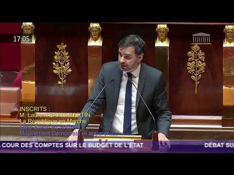 Intervention sur le rapport de la Cour des Comptes sur le budget de l'Etat