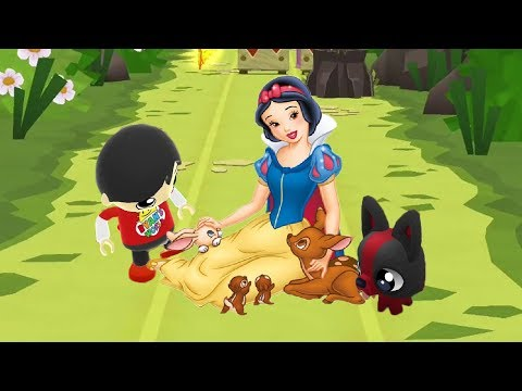 Tag with Ryan - Red T-Shirt Ryan vs Dash Tag - Beo vs Princess Run - Snow White
