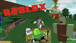 ROBLOX: The most intense Zombie apocalypse I've faced?!!! -Zombie Rush (GK)
