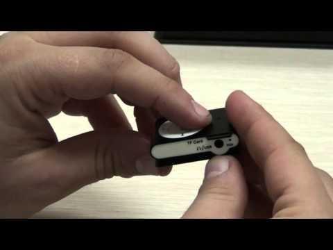 CM-C10218BK-AD MP3 Player Spy Cam Product Demonstration