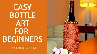 Bottle Art for Beginners/Bottle Decoration/Wine bottle decor/Bottle Art