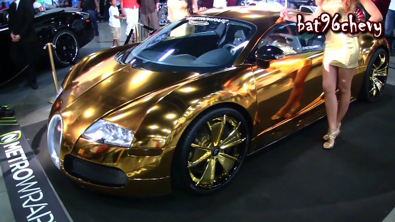 gold bugatti veyron on gold forigato wheels @forgiato fest 2013