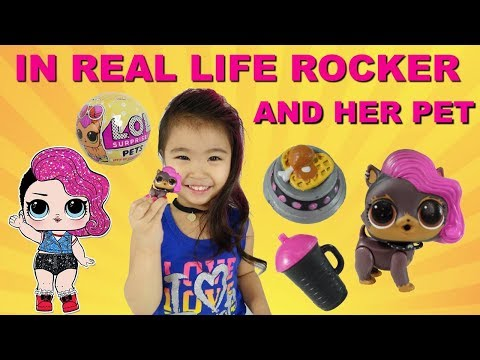 IRL LOL Surprise Rocker  and LOL Surprise Pets In Real Life Ruff- Rocker