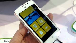 ZTE Tania Windows Phone 7.5 smartphone demo at CES 2012