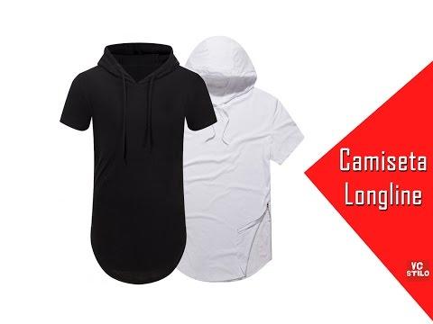 Camiseta Oversized Longline Masculina Swag Capuz VCstilo - YouTube fe8ba9d2aad