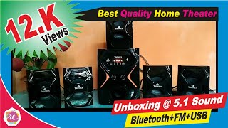 Tronica Republic Series 5.1 Bluetooth Home Theater with FM/AUX/USB/SD Card Support | Unboxing Amazon