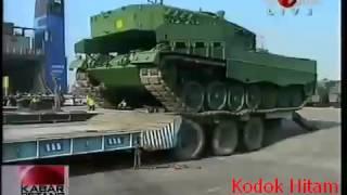 Gagahnya Puluhan Tank Leopard Alutsista Terbaru TNI di Surabaya