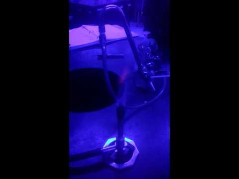 Sodium and potassium with cobalt glass