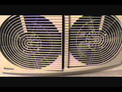 how to clean a holmes window fan