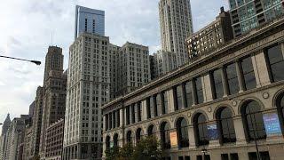 БОЛЬШОЕ ПУТЕШЕСТВИЕ ПО США: Пешая прогулка по центру Чикаго   Часть 1 [Автор: Слава Бунеску]