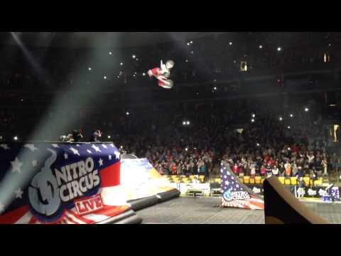 Nitro Circus live TD Boston garden 1/5/2014 MX double backf