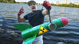 Эту опасную жуткую находку мы подняли на магнитной рыбалке а там