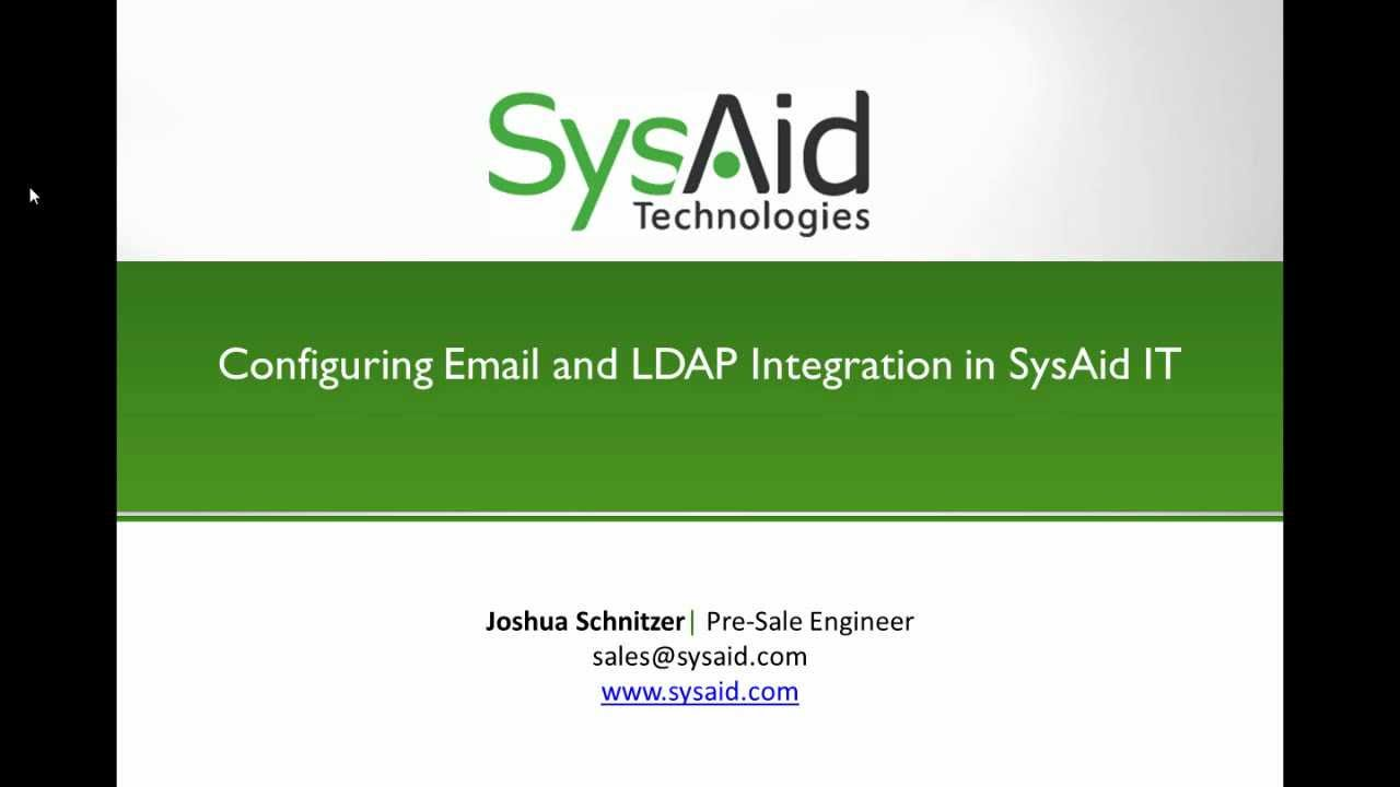 Configuring Email and LDAP Integration in SysAid