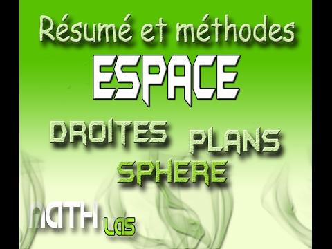 résumé espace pour bac ( droite - plan - sphere)