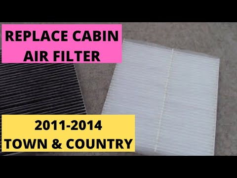 """How to replace """"Cabin Air Filter"""" 2011-2014 Town & Country Van"""