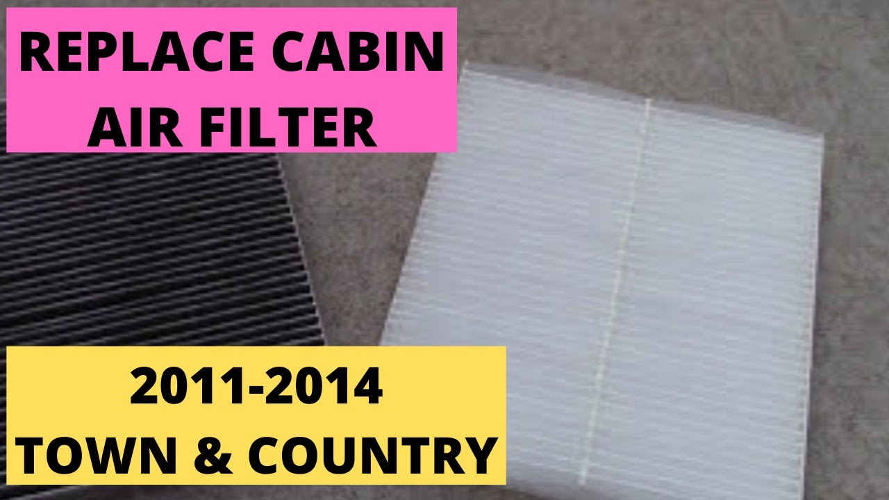 hight resolution of how to replace cabin air filter 2011 2014 town country van