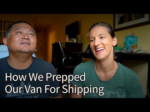 How We Prepped Our Van For Shipping :: Van Family Travel Vlog