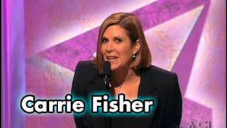 Carrie Fisher Salutes Harrison Ford at the AFI Life Achievement Award