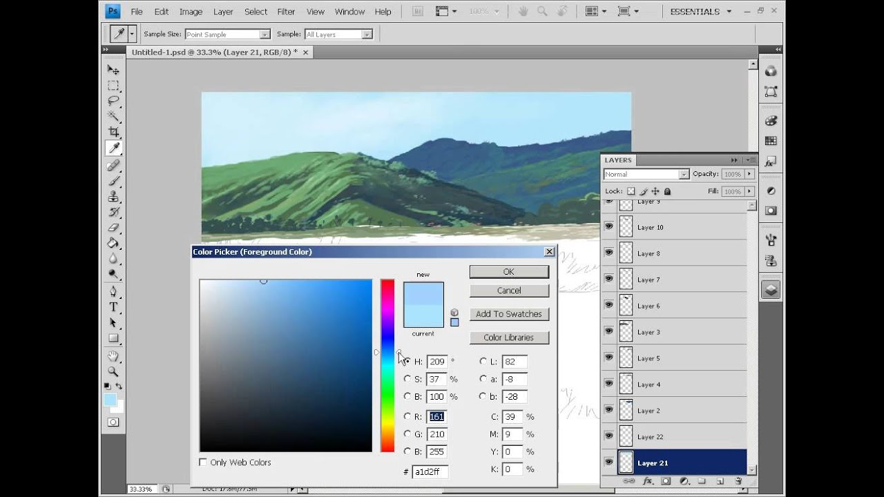 how to painting background for anime / cartoon using ...