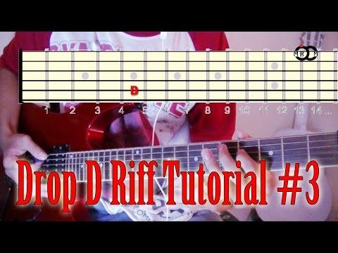 Drop D Guitar Riff Tutorial #3