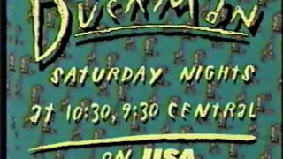 USA Network Duckman Advert and SciFi Channel Deep Red movie bump