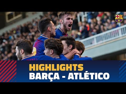 [HIGHLIGHTS] YOUTH LEAGUE: FC Barcelona – At. Madrid (2-0)
