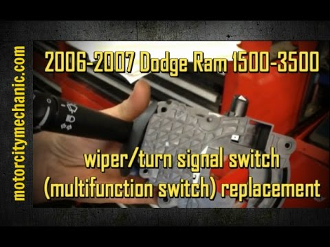 hqdefault 2006 2007 dodge ram 1500 3500 turn signal wiper switch replacement