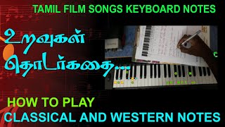 URAVUGAL THODARGATHAI / CLASSICAL AND WESTERN NOTES / MY MUSIC MASTER