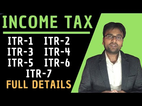 Income Tax: ITR Full Explanation [ITR-1, ITR-2, ITR-3, ITR-4, ITR-5, ITR-6, ITR-7] by GST Sathi