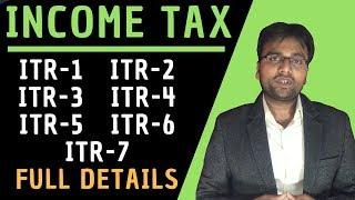Income Tax: ITR Full Explanation [ITR-1, ITR-2, ITR-3, ITR-4, ITR-5, ITR-6, ITR-7] by GST Sathi