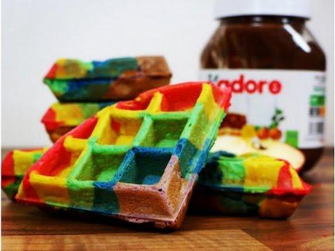 recette-gaufres-arc-en-ciel-|-rainbow-waffles-recipe