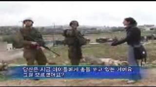 Girl vs israeli soldier