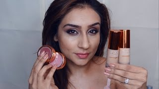 EX1:BEST foundation blusher concealer powder for indian pakistani olive skin || Raji Osahn