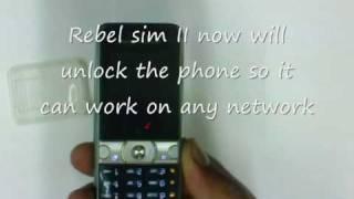 rebel sim ii unlocking sony Ericcson K660i thats locked toUK Thr