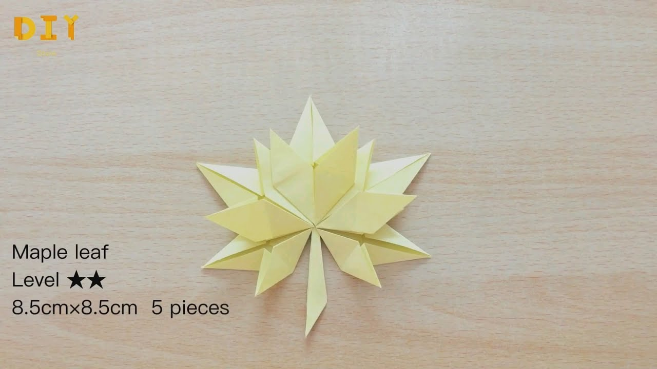 Origami Maple leaf - Level ** - DIY Show 枫叶折纸 - YouTube - photo#15