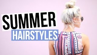 5 Easy & Cute Summer Hairstyles! | Aspyn Ovard