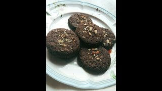 Eggless Ragi Chocolate Cookies: Refined Sugar Free, Low Fat Recipe