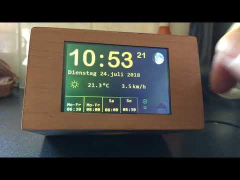 Iot Wecker mit Arduino ESP8266, Nextion Touch Display, MP3 player