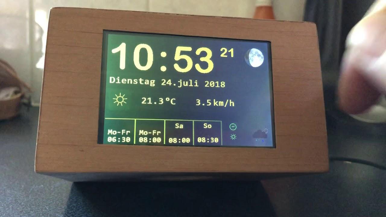 IoT Alarm Clock with ESP8266, Nextion touch display, MP3 player, RTC, light  sensor
