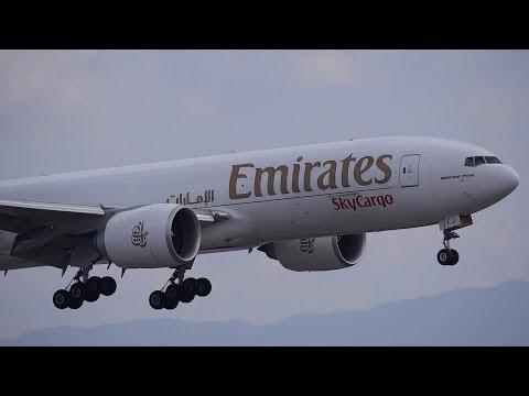 Emirates Sky Cargo Boeing 777F A6-EFJ Landing at KIX 24L