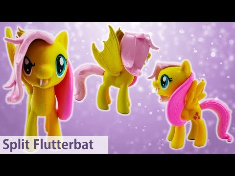 Flutterbat and Fluttershy Transformation Split Pony Custom