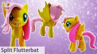 Flutterbat and Fluttershy Transformation Split Pony Custom