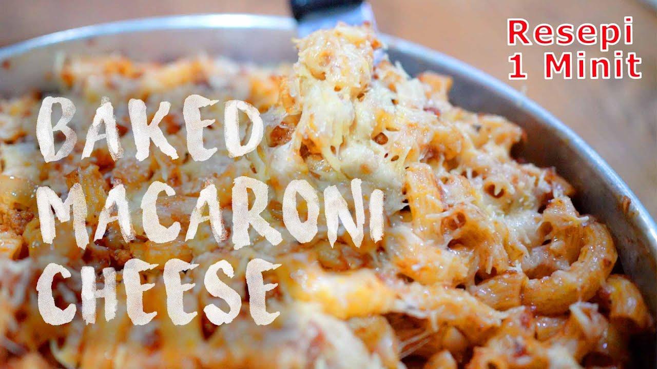 Resepi Baked Macaroni Cheese Youtube